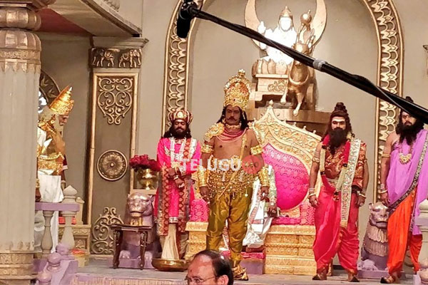 NBK as Suyodhana for NTR Day One Shoot