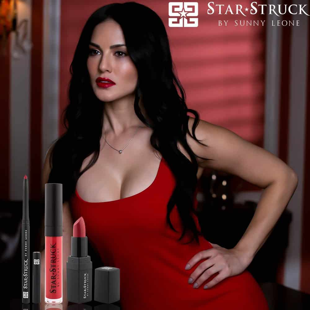 hot and ravishing sunny leone sizzles in red