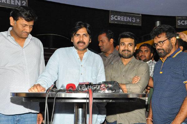 Pawan Kalyan all praises for Charan and Sukumar