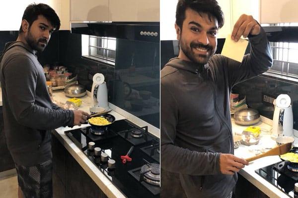 Charan turns Master Chef for Upasana