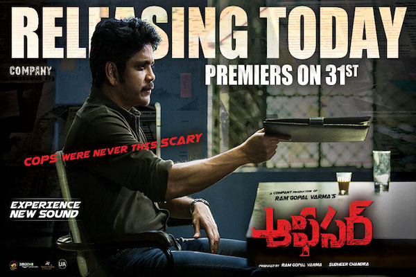 """Nagarjuna & RGV's ""OFFICER"" premiering Today, May 31st in USA"""