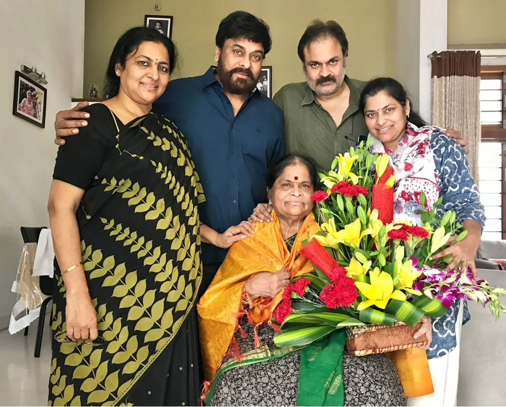 Mothers Day : Chiranjeevi Naga Babu brothers seek blessings from mother