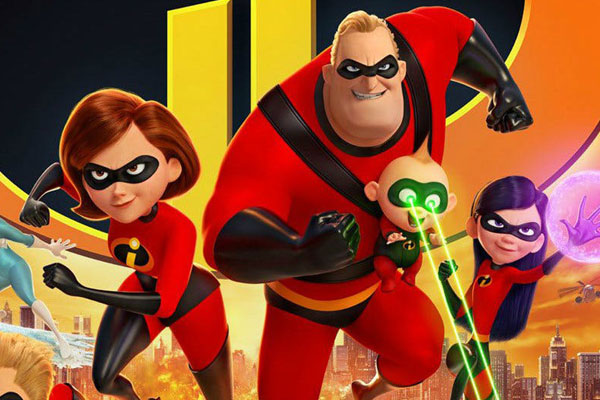 Incredibles 2 opens with $180 million, breaks records