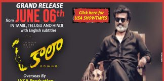 """Rajinikanth's KAALA all Set for USA Premiers Tomorrow"""