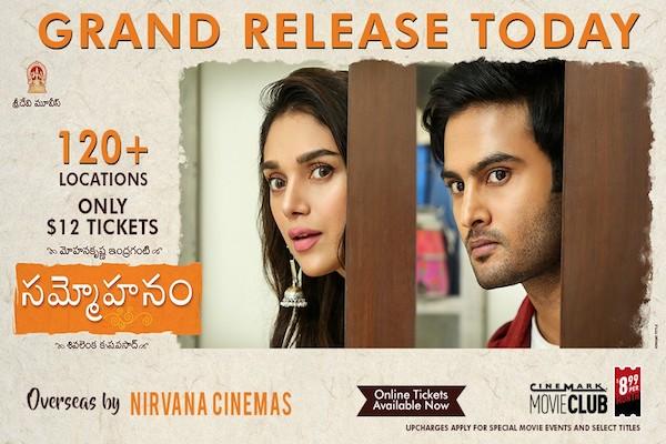 Sammohanam Grand US Premieres Today