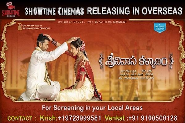 Sreenivasa Kalyanam Overseas release by ShowTime Cinemas