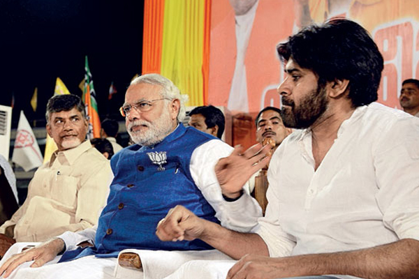Pawan Chandrababu and Modi Friends in 2014, foes now for 2019
