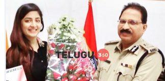 Poonam Kaur met Telangana DGP