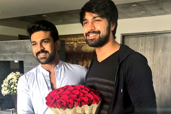 Kalyaan Dhev gets a pat from Ram Charan
