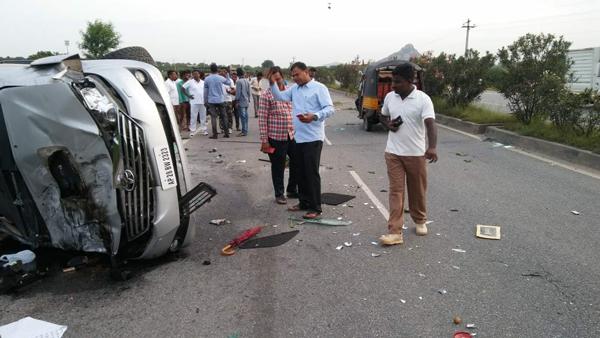 Photos: Nandamuri Harikrishna Car accident