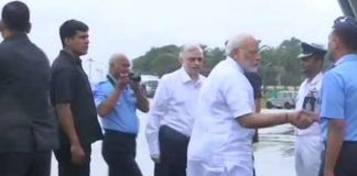 Modi begins aerial survey of Kerala floods