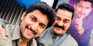 Universal star Kamal Hassan in Natural star Nani's Bigg boss house