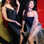 Sunny Leone with her Wax statue