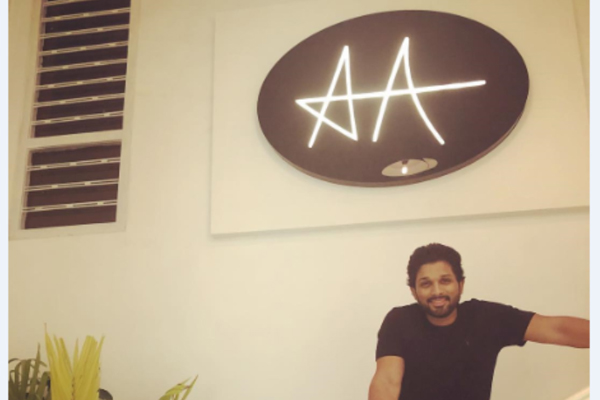 allu arjun moves into new office