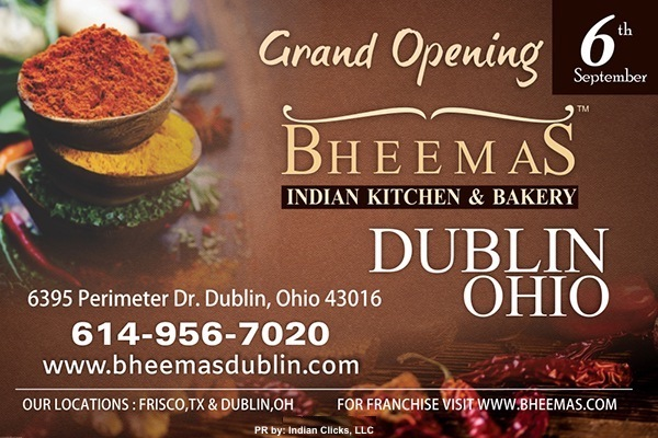 BHEEMAS Indian Kitchen & Bakery NOW IN Dublin, Ohio