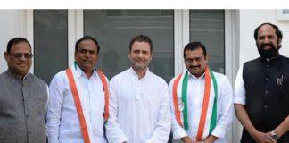Film producer Bandla Ganesh, TRS MLC join Congress
