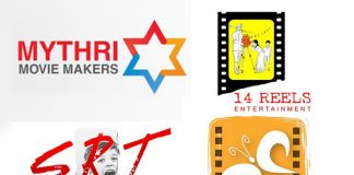 Mythri Movie Makers,14 Reels, Nirvana Cinemas and SRT Entertainments