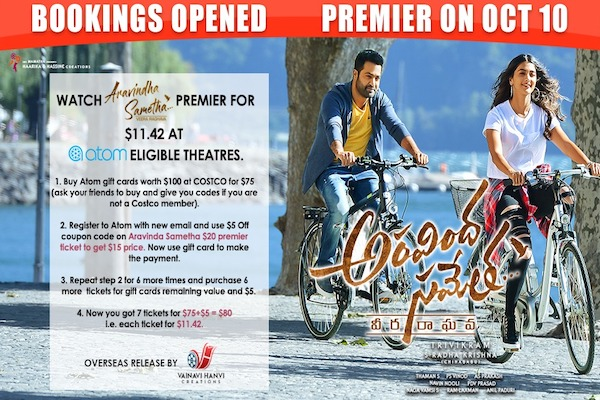 Watch Aravindha Sametha Premier for $11.42