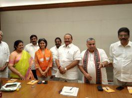 Sanchaita Gajapathi Raju joins BJP