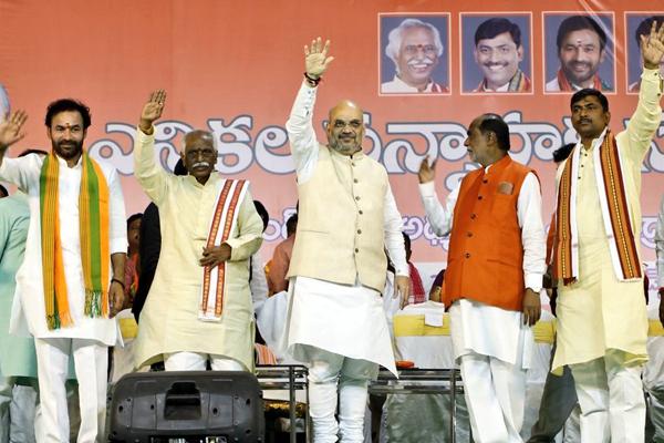 KCR afraid to face Modi wave, says Amit Shah