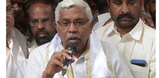 'Bhasmasura hastam on Kodandaram's head'