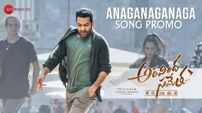 NTR's stylish dances moves in Anaganagana song