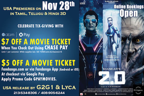 """2.0 the 3D spectacle and pride of Indian Cinema"""