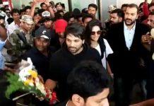 Grand welcome for Allu Arjun by Kerala fans