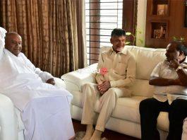 Chandrababu Naidu with Karnataka CM