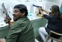 Chiranjeevi trains under Olympic shooter
