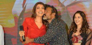Chota K Naidu kisses Kajal Aggarwal at Kavacham Teaser event