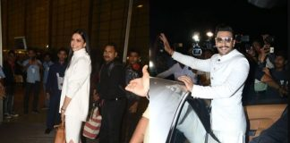 Twinning in White: Deepika and Ranveer off to Italy