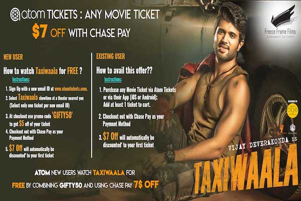 Taxiwaala AT&T Buy 1, Get 1 this Tuesday & Free ATOM Ticket offer!!