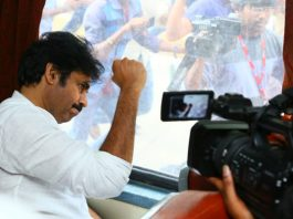 Pawan Kalyan begins train journey amid fanfare