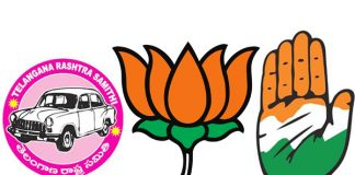 TRS, BJP and Congress