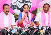 Sonia spoke CBN's words in Telangana, says TRS MP Kavitha
