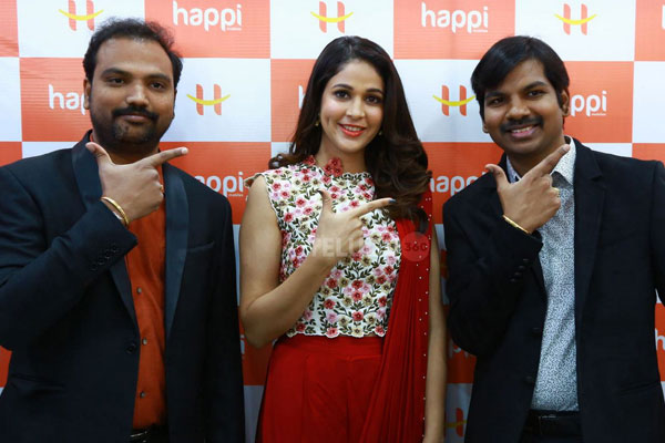 Happi Mobiles Store launched by Lavanya Tripathi at Siddipet