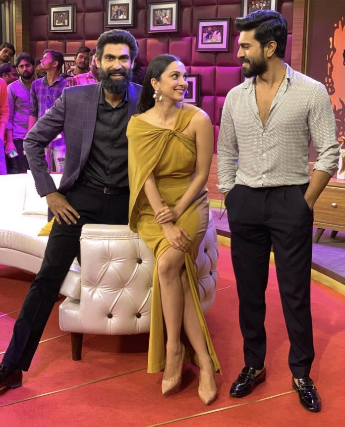Charan and Kiara promote VVR in Rana's show