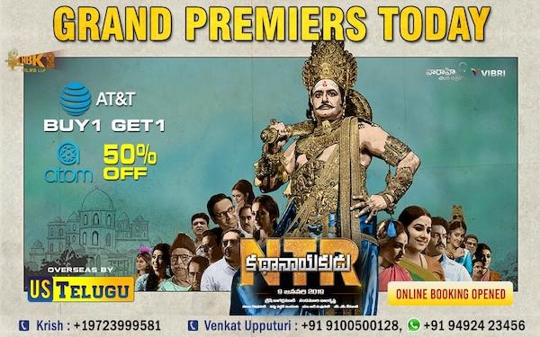 All set for NTR Kathanayakudu Grand Premiers Today