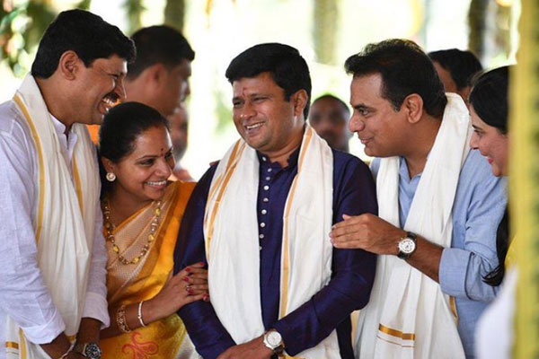Kalvakuntla Kavita's family time