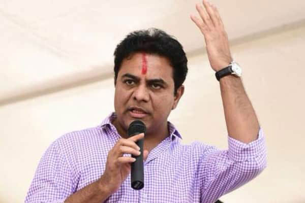 KTR taking helicopter tours to escape Oppn parties protests!