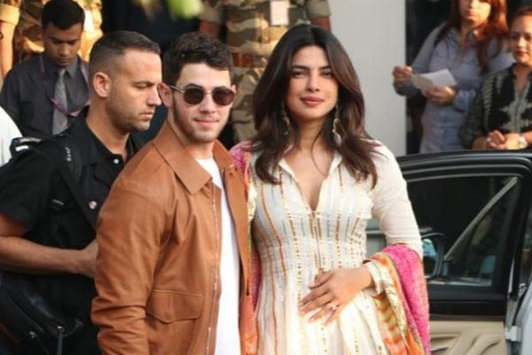 Priyanka Chopra, Nick Jonas in India