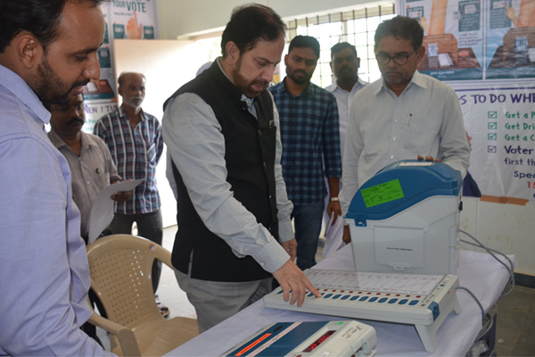 Election Commission notices to Vikarabad Collector on EVMs