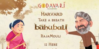 """Godavari welcomes S.S Rajamouli to Boston"""