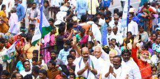 Gannavaram YSRCP YV Rao nomination photos