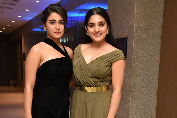 Shalini Pandey and Niveda Thomas at 118 success meet