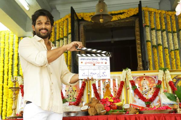 Allu Arjun – Trivikram new movie pooja ceremony