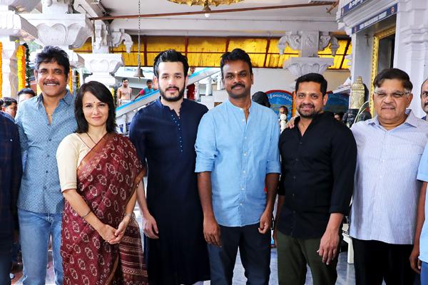Akhil, Geetha Arts Movie Launch