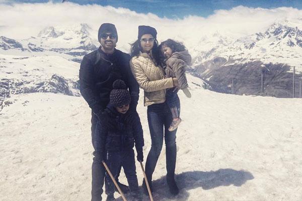 Allu Arjun holidaying in Switzerland