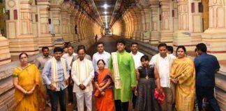 KCR family visits Ramasethu and Rameswaram temple